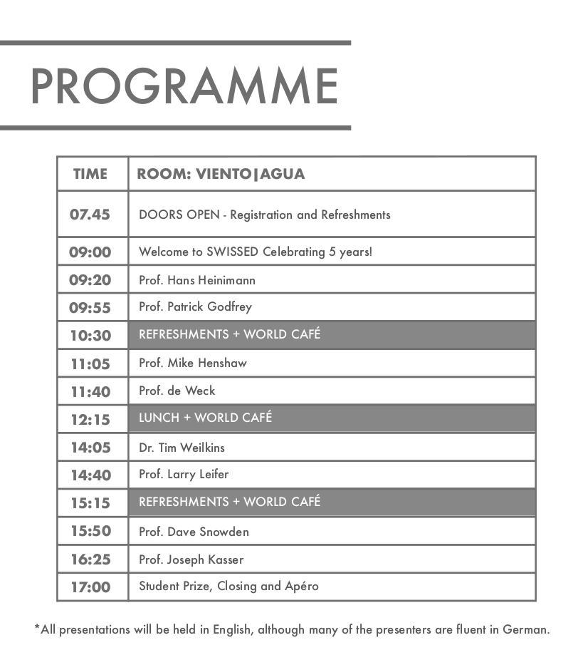 SWISSED18 - programme